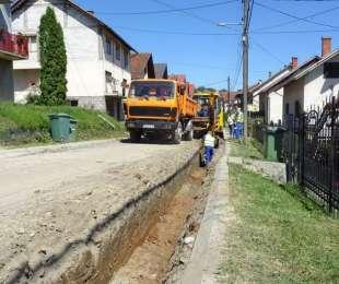 Реконструкција водоводне линије у улици Рада Кончара